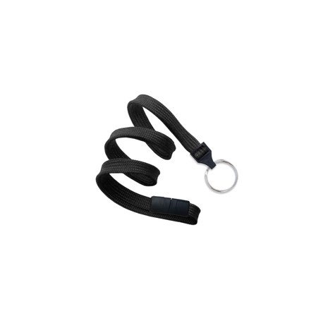 "Flat Lanyard 10mm (3/8"") - Split ring - Breakaway"